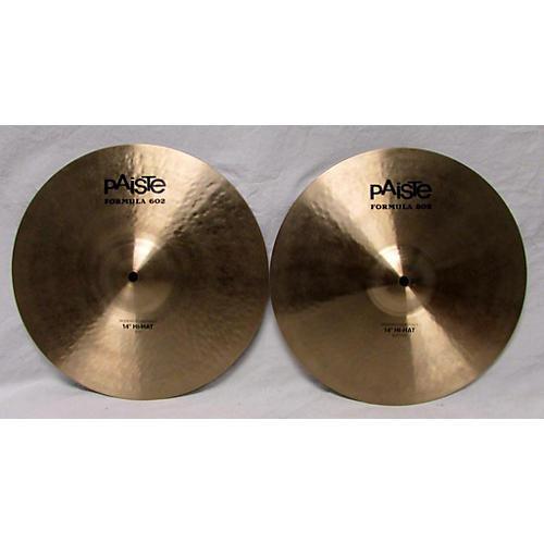 Paiste 14in Formula 602 Modern Dynamic Hi Hat Pair Cymbal