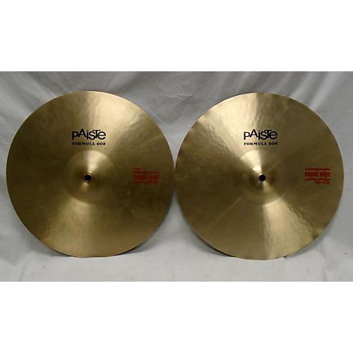 Paiste 14in Formula 602 Sound Edge Hi Hat Pair Cymbal