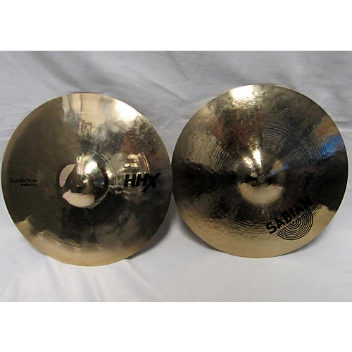 used sabian 14in hhx evolution hi hat pair cymbal 33 guitar center. Black Bedroom Furniture Sets. Home Design Ideas