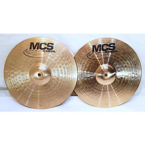 used meinl 14in mcs series hi hat set cymbal 33 guitar center. Black Bedroom Furniture Sets. Home Design Ideas