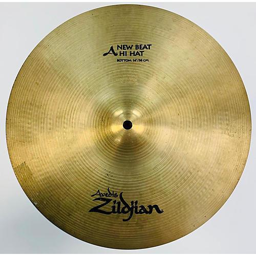 used zildjian 14in new beat hi hat bottom cymbal 33 guitar center. Black Bedroom Furniture Sets. Home Design Ideas