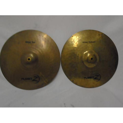 used zildjian 14in planet z hi hat pair cymbal 33 guitar center. Black Bedroom Furniture Sets. Home Design Ideas