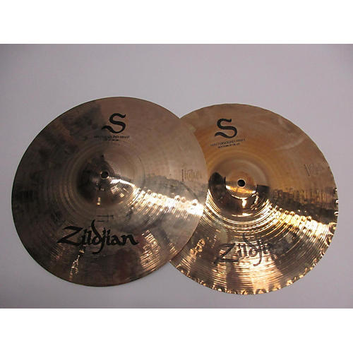 used zildjian 14in s series master sound hi hat pair cymbal 33 guitar center. Black Bedroom Furniture Sets. Home Design Ideas