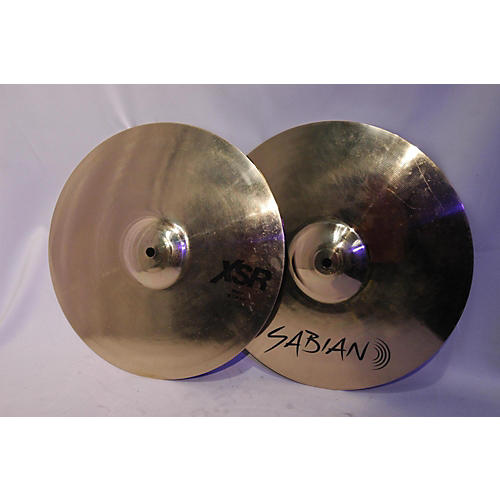 used sabian 14in xsr hi hat pair cymbal 33 guitar center. Black Bedroom Furniture Sets. Home Design Ideas