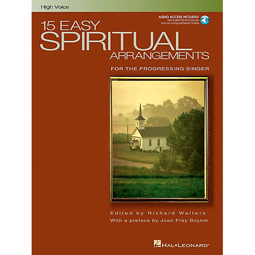 Hal Leonard 15 Easy Spiritual Arrangements for High Voice Book/CD