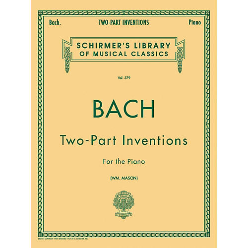 G. Schirmer 15 Two Part Inventions for The Piano By Bach