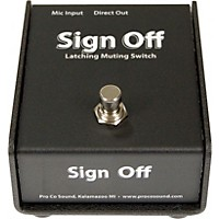 Pro Co Sign Off Latching Mic Mute  ...