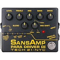 Tech 21 Sansamp Para Driver Di Preamp Pedal V2
