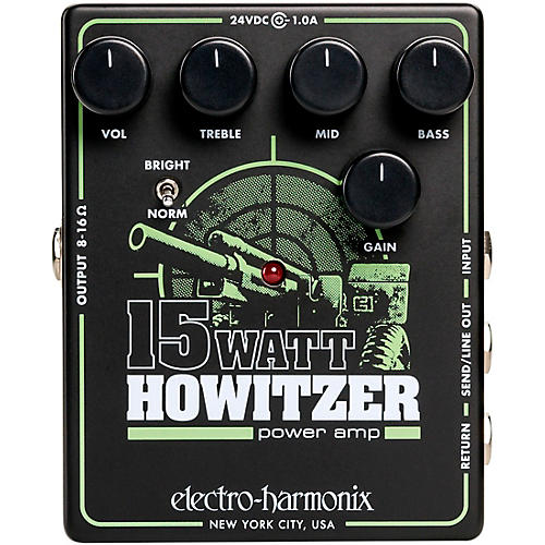 Electro-Harmonix 15Watt Howitzer Guitar Preamp and Power Amp Effects Pedal