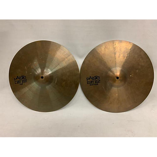 used paiste 15in giant beat hi hat pair cymbal 35 guitar center. Black Bedroom Furniture Sets. Home Design Ideas