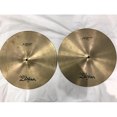 used zildjian 15in k sweet hi hat pair cymbal 35 guitar center. Black Bedroom Furniture Sets. Home Design Ideas