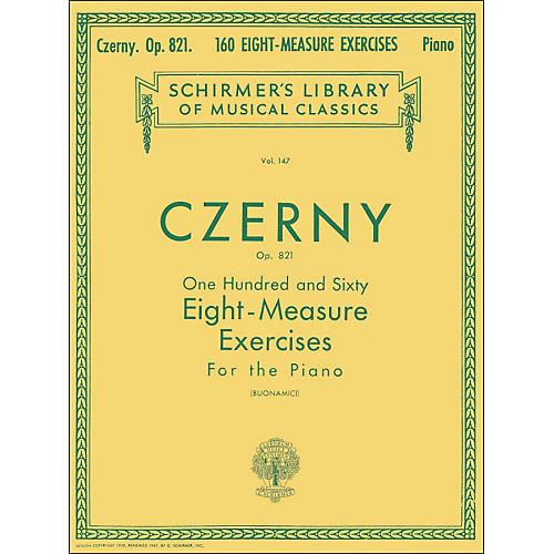 G. Schirmer 160 Eight-Measure Exercises Op 821 Piano By Czerny