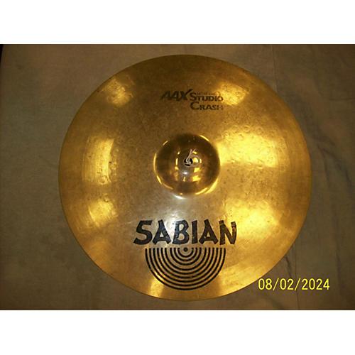 Sabian 16in AAX Studio Crash Brilliant Cymbal