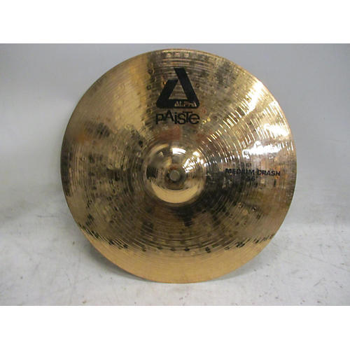 used paiste 16in alpha medium crash brilliant cymbal 36 guitar center. Black Bedroom Furniture Sets. Home Design Ideas