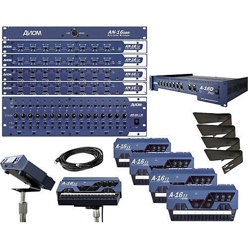 Aviom 16x16 Digital Snake with Monitors Package