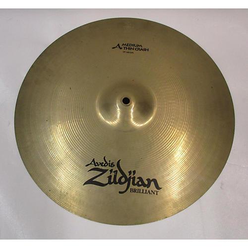 used zildjian 17in a series medium thin crash cymbal 37 guitar center. Black Bedroom Furniture Sets. Home Design Ideas