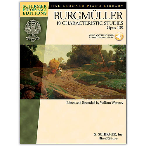 G. Schirmer 18 Characteristic Studies, Op. 109 - Schirmer Performance Edition Book/Online Audio By Burgmuller / Westney