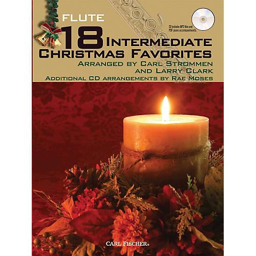 Carl Fischer 18 Intermediate Christmas Favorites - Flute Book/CD
