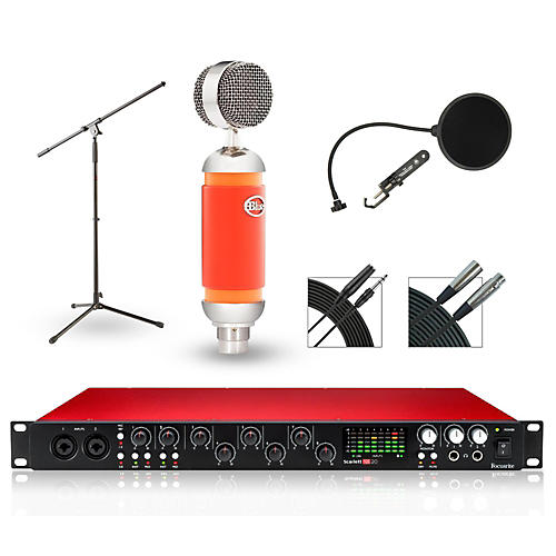 Focusrite 18i20 Recording Bundle with Blue Mic