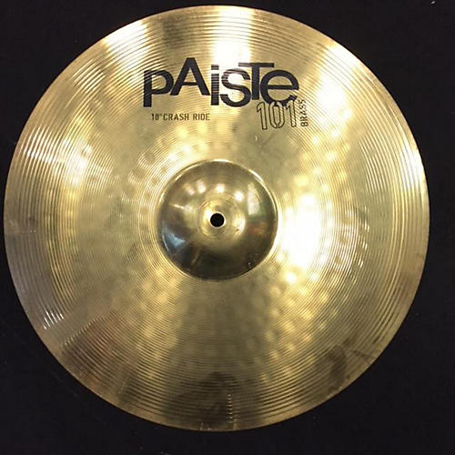 Paiste 18in 101 BRASS CRASH RIDE Cymbal