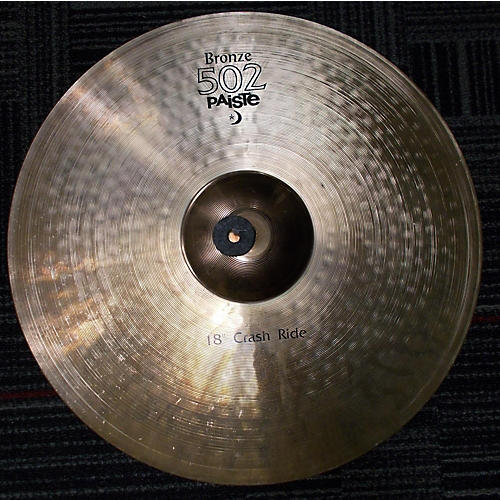 Paiste 18in 502 Bronze Crash Ride Cymbal