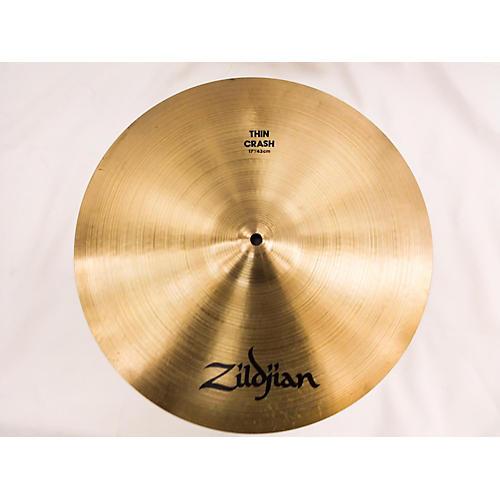used zildjian 18in a series medium thin crash cymbal guitar center. Black Bedroom Furniture Sets. Home Design Ideas