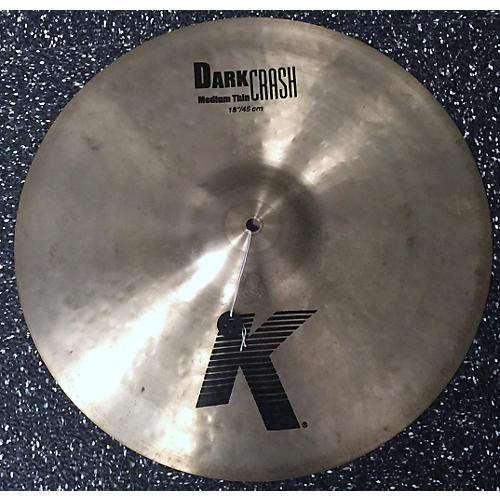 Zildjian 18in K 18 Dark Med Crash Cymbal