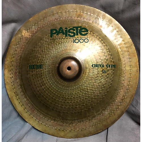 used paiste 18in rude classic china cymbal guitar center. Black Bedroom Furniture Sets. Home Design Ideas