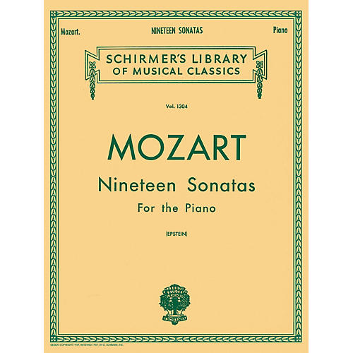 G. Schirmer 19 Sonatas for The Piano Complete By Mozart