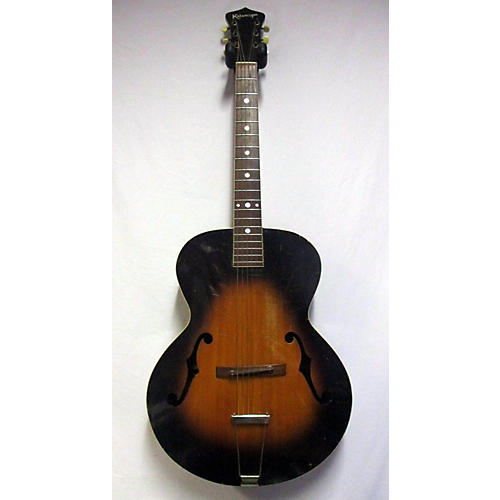 vintage kalamazoo 1940s kg 32 hollow body electric guitar sunburst guitar center. Black Bedroom Furniture Sets. Home Design Ideas