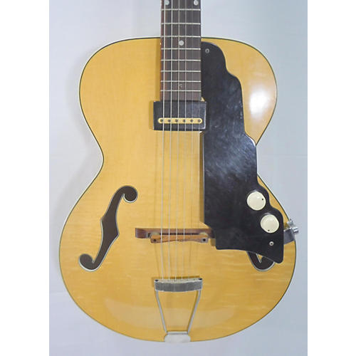 vintage national 1953 new yorker spanish hollow body electric guitar yellow natural guitar center. Black Bedroom Furniture Sets. Home Design Ideas