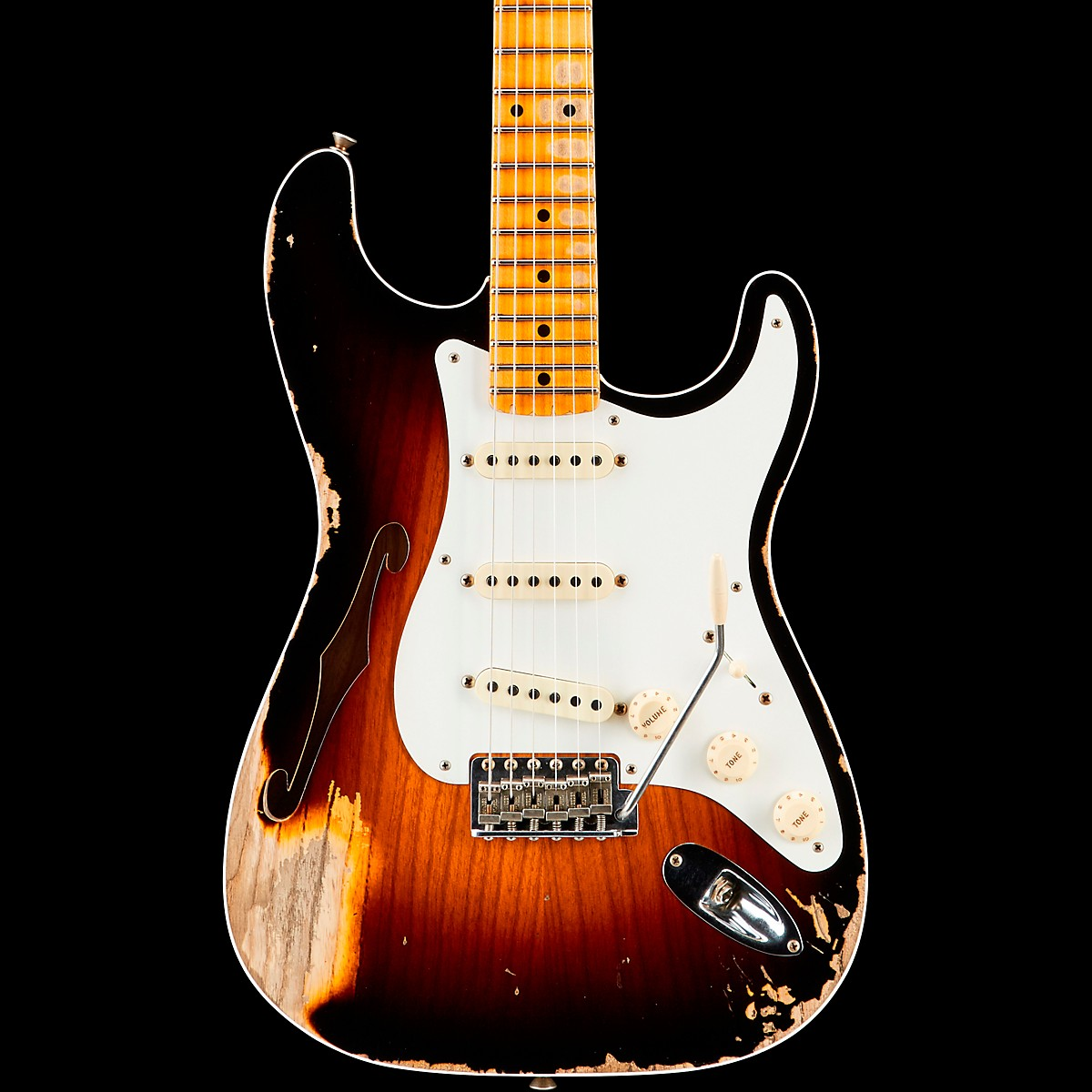 Fender Custom Shop 1956 Heavy Relic Thinline Stratocaster Electric Guitar