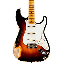 1956 Heavy Relic Thinline Stratocaster Electric Guitar Wide Fade 2-Color Sunburst