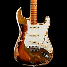 1957 Heavy Relic Stratocaster Electric Guitar HLE Gold Over 2 Color Sunburst