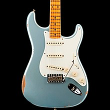 1958 Relic Stratocaster Electric Guitar Super Faded Aged Blue Ice Metallic