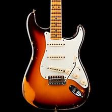 1959 Stratocaster Heavy Relic Maple Fingerboard Electric Guitar Faded Chocolate 3-Color Sunburst