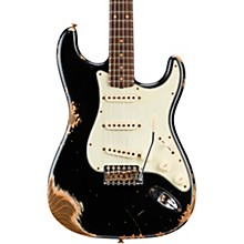 1960 Stratocaster Heavy Relic Electric Guitar Aged Black