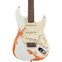 1960 Stratocaster Heavy Relic Electric Guitar Aged Olympic White