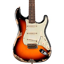 1960 Stratocaster Heavy Relic Electric Guitar Faded Aged 3-Color Sunburst