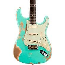 1960 Stratocaster Heavy Relic Electric Guitar Faded Aged Surf Green