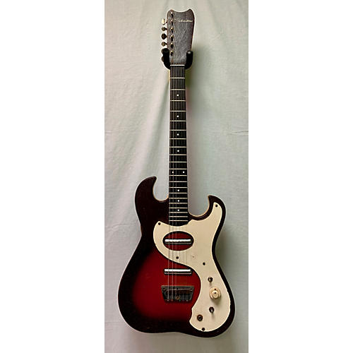 Silvertone 1960s 1449 Solid Body Electric Guitar