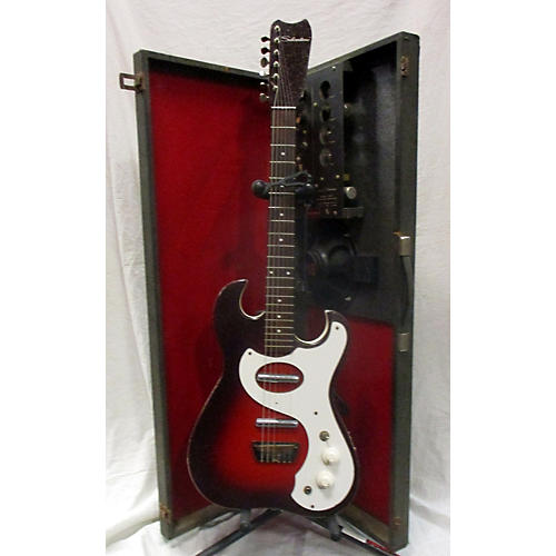 Silvertone 1960s 1457 Amp In Case Solid Body Electric Guitar