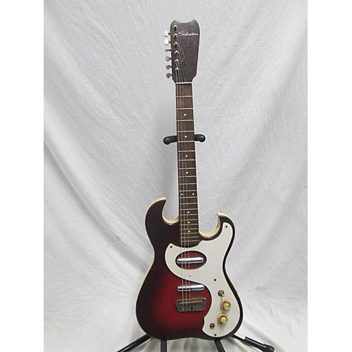 Silvertone 1960s 1457 With Amp In Case Solid Body Electric Guitar
