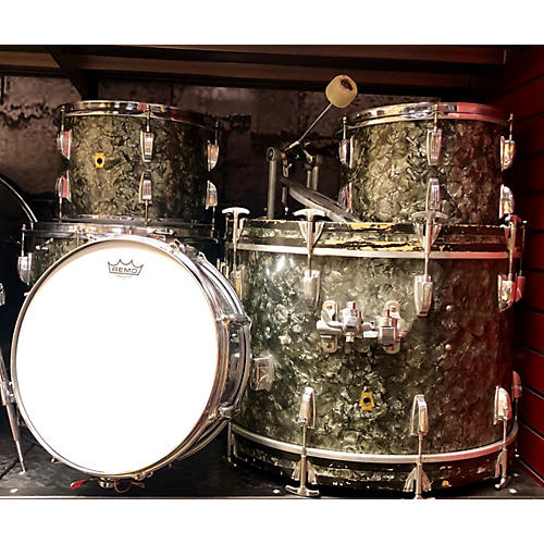 Ludwig 1960s 1960's Black Dimond Pearl DownBeat Drum Kit
