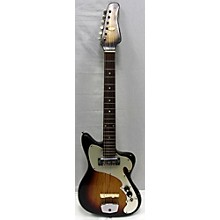 LaFayette 1960s 1960's Lafayette Electric Sunburst Solid Body Electric Guitar