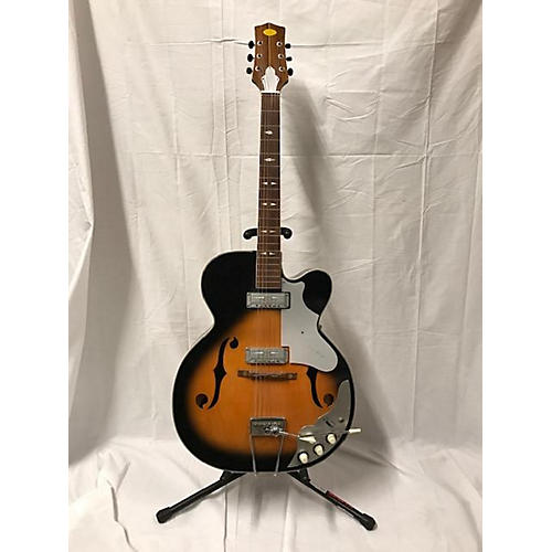 LaFayette 1960s 2pu Hollowbody Acoustic Electric Guitar