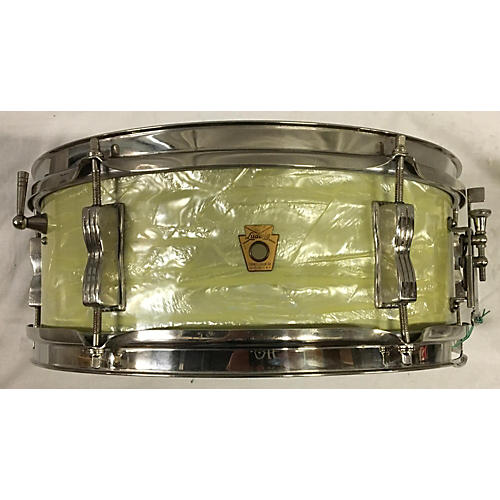 Ludwig 1960s 5X14 1960's Ludwig Snare White Marine Pearl Drum