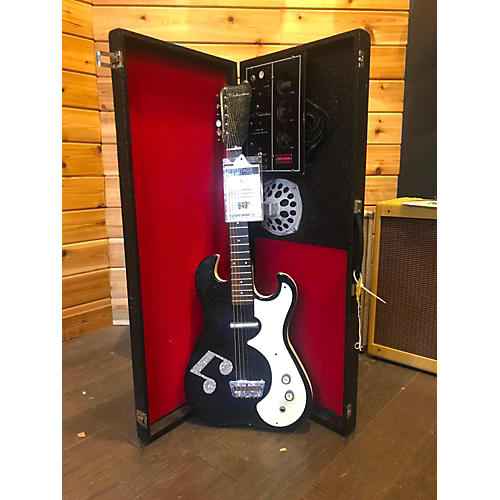 Silvertone 1960s AMP IN CASE Solid Body Electric Guitar