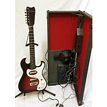 Silvertone 1960s Amp In Case Model 1457 Solid Body Electric Guitar
