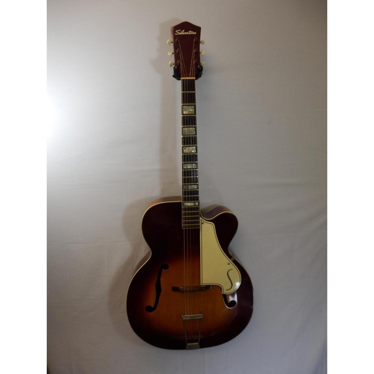 Silvertone 1960s Aristocrat Arch Top Acoustic Guitar
